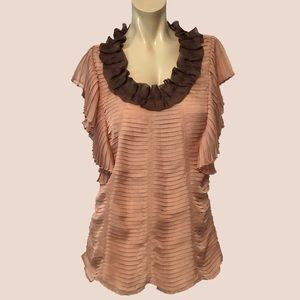 RYU pleated ruffle top